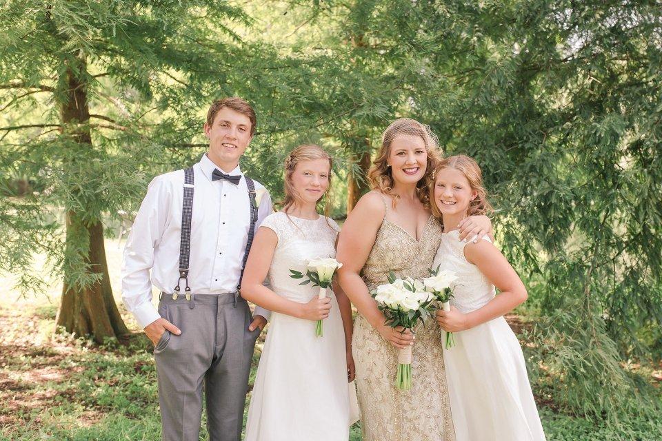 Classic Wedding Party at Audubon Park in New Orleans by Destination Wedding Photographer Karen Shoufler