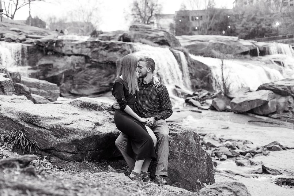 Falls Park on the Reedy Engagement Session