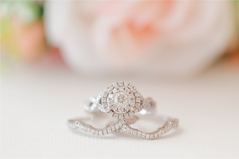Bridal ring shot in Springfield, Illinois by Karen Shoufler Photography