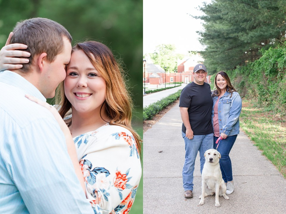 Spring Engagement Session at Allerton Park in Monticello with puppy by Karen Shoufler Photography