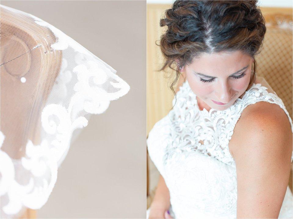 Bridal portraits at Northwest Indiana summer wedding