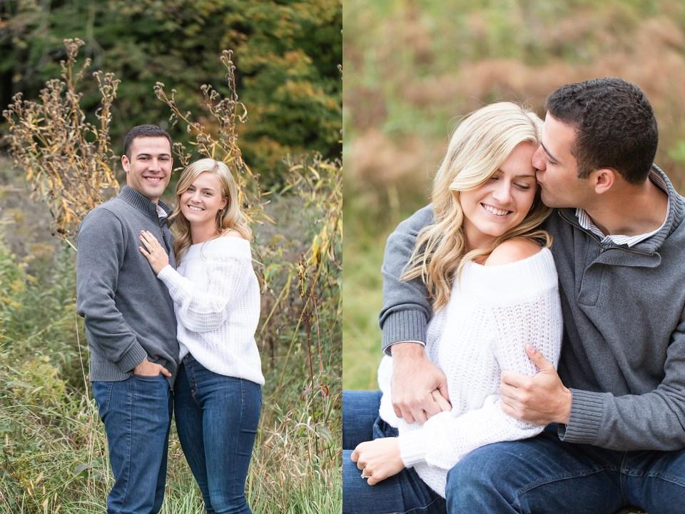 Casual Couple at Morton Arboretum Engagement Photography by Karen Shoufler
