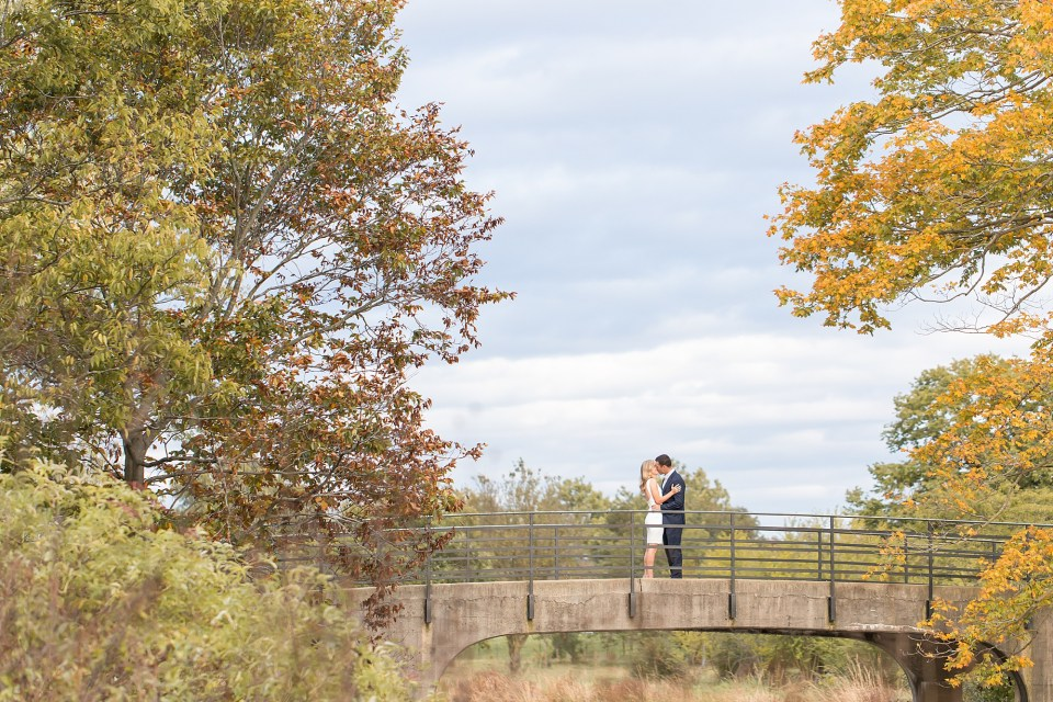 Chicagoland fall engagement session at Morton Arboretum