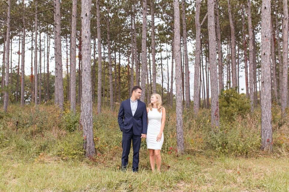 Stylish Couple at Morton Arboretum Engagement Photography by Karen Shoufler