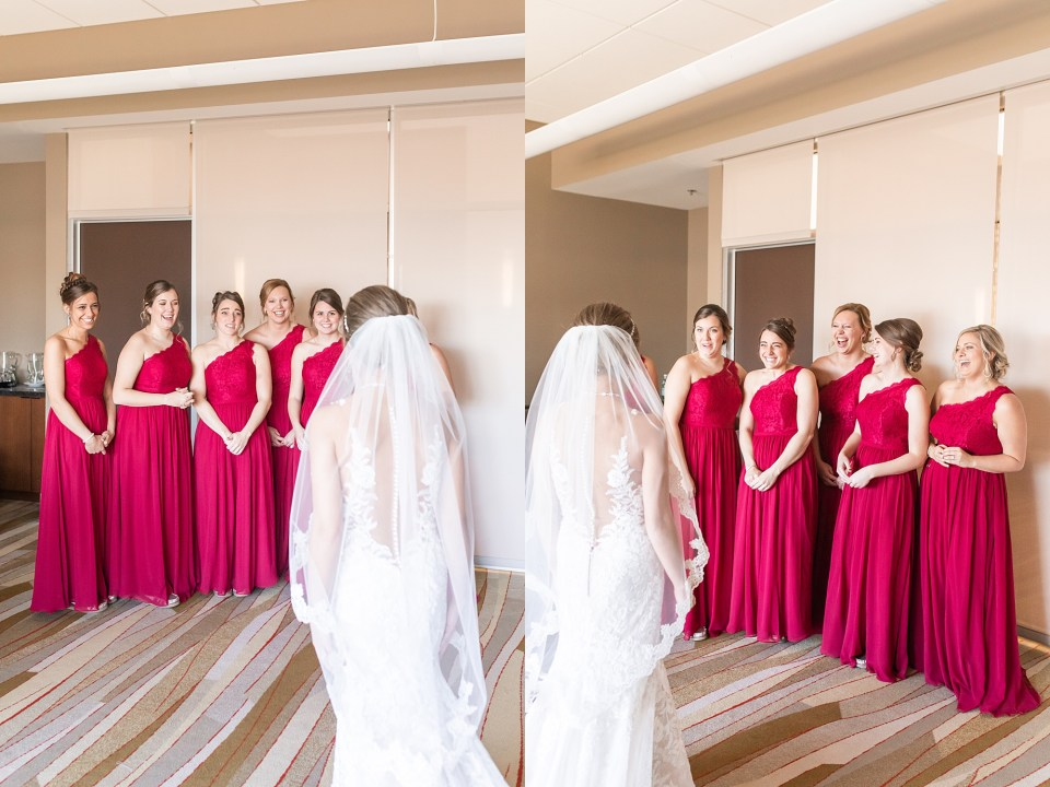 Bride getting ready at iHotel in Champaign, Illinois