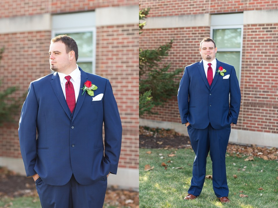 Groom at iHotel in Champaign, Illinois