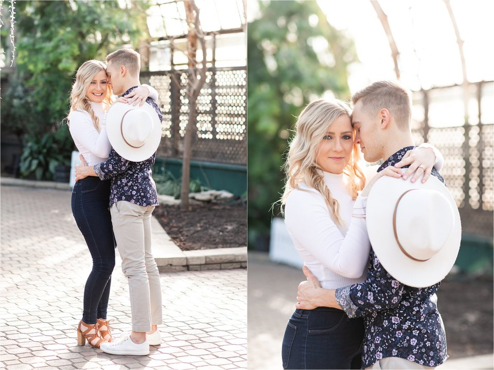 Lincoln Park Conservatory engagement photography in Chicago, Illinois