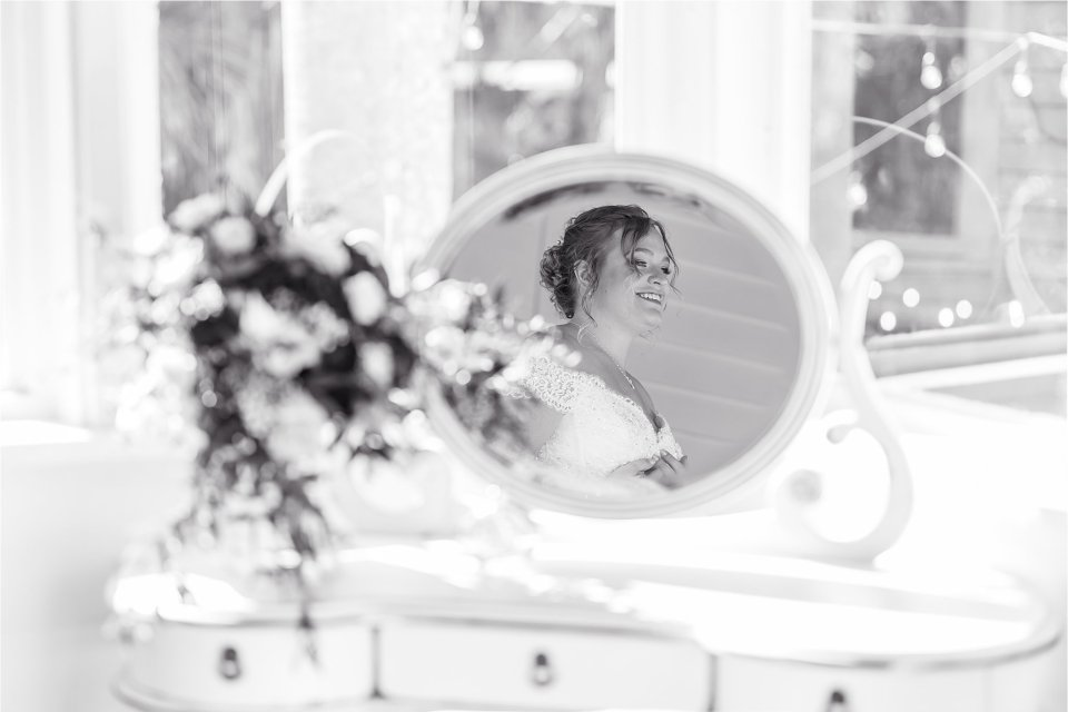 Bride at Heitman House in downtown Ft Myers, Florida wedding