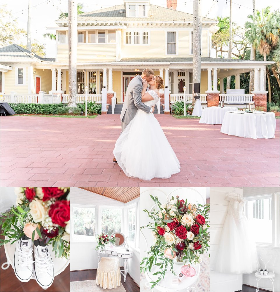 Spring wedding at Heitman House wedding venue in downtown Ft Myers, Florida