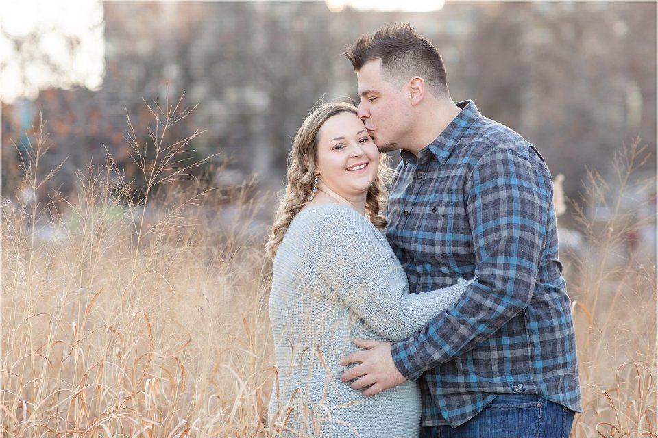 Winter Engagement Photos at Lincoln Park Nature Boardwalk in Chicago by Karen Shoufler