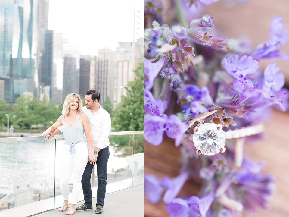 Summer engagement session at Navy Pier in Chicago