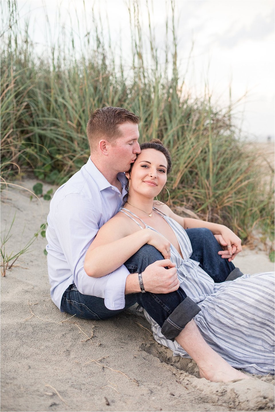 Tybee island engagement photography at sunset