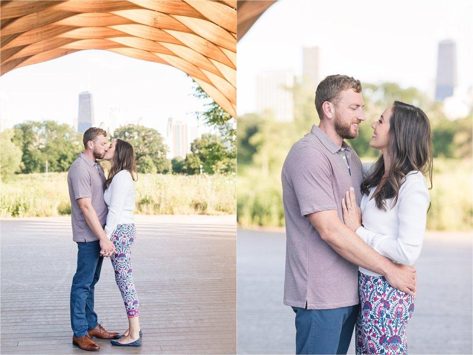 engagement session at Lincoln Park Nature Boardwalk | Karen Shoufler Photography