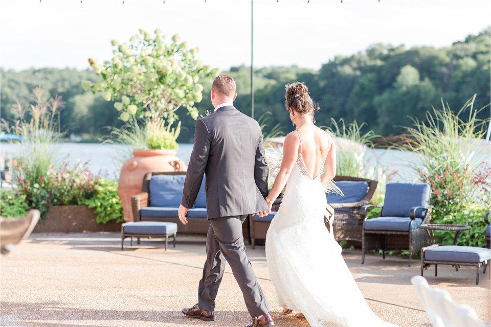 Bride and groom walking at Egyptian Hills Resort