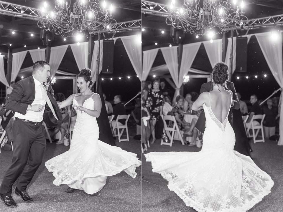 Bride and groom first dance at Egyptian Hills Resort