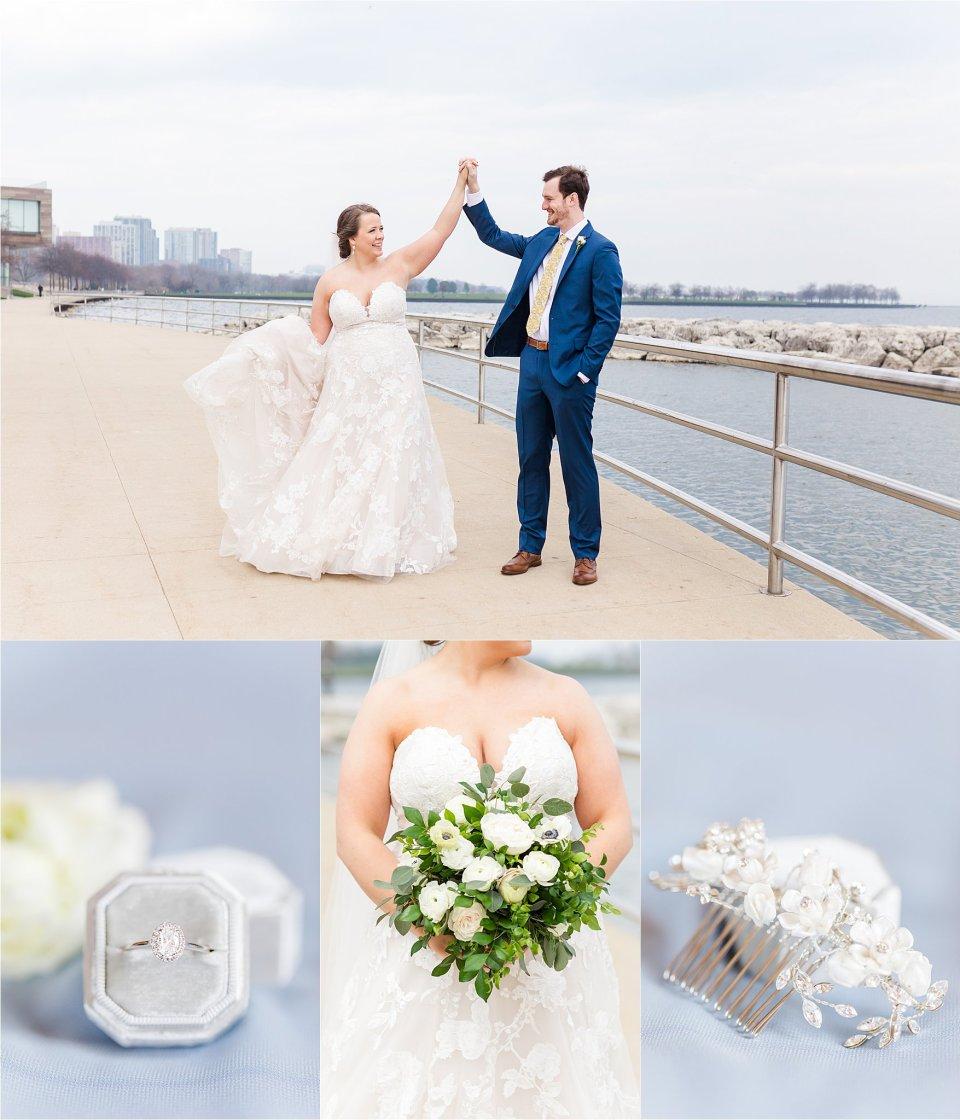Milwaukee wedding photography at Art Museum