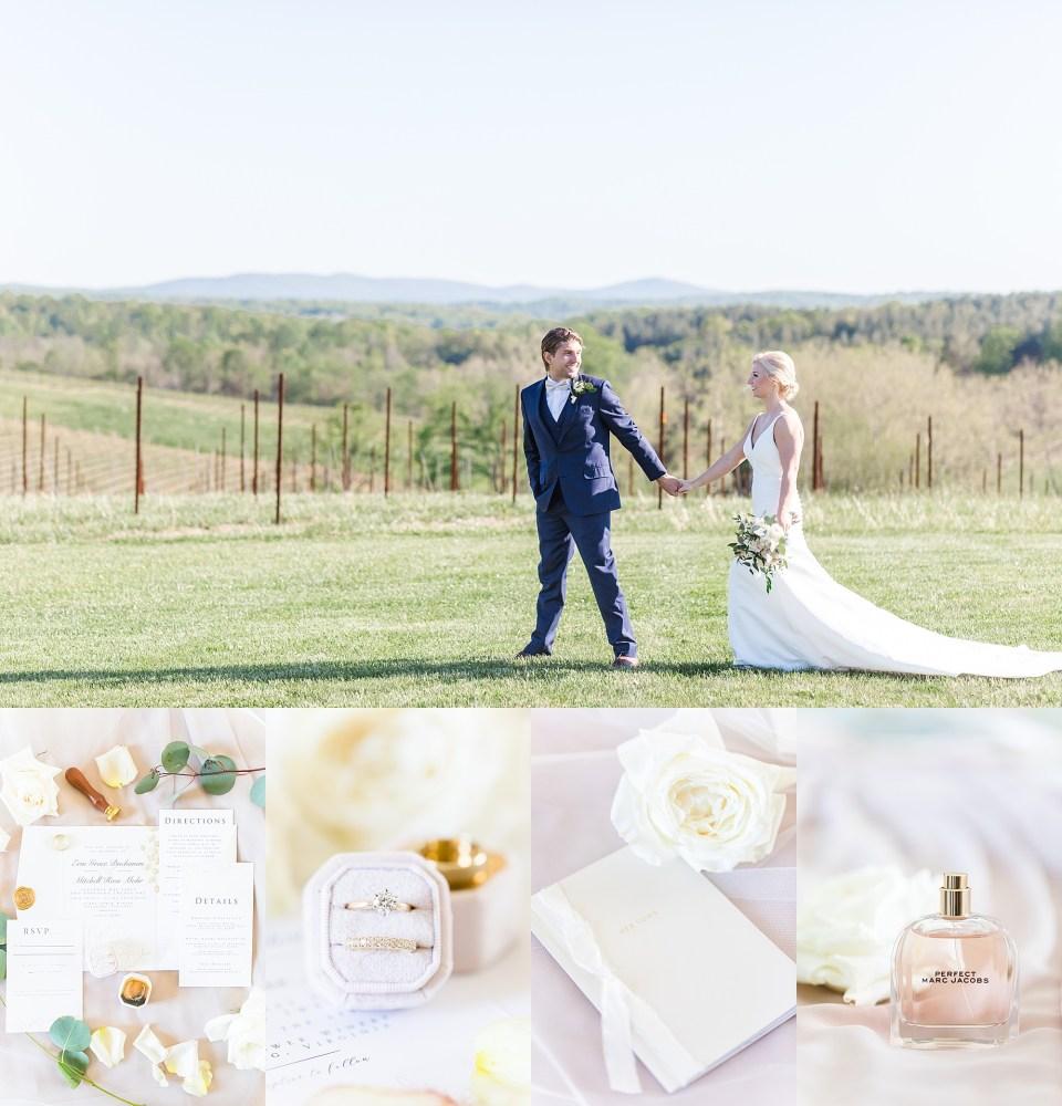 Beautiful spring wedding at Leesburg, Virginia winery