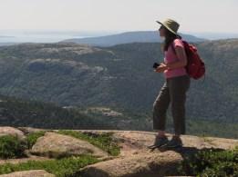 Gretchen Halpert surveying the area