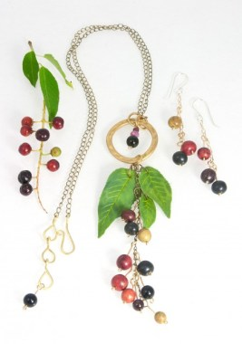 Wild Cherry II set plus cherries-(sold) © 2014 Karen A. Johnson