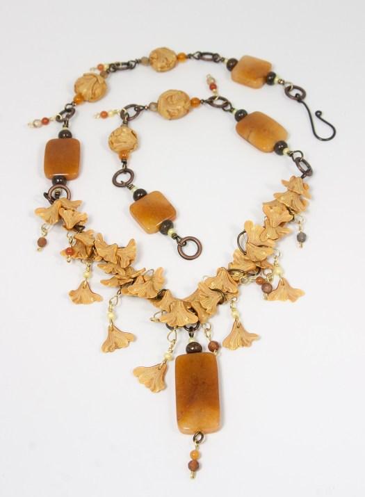 Ginkgo Rain necklace © 2014 Karen A. Johnson