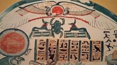 Painted Egyptian scarab © 2015 Karen A Johnson