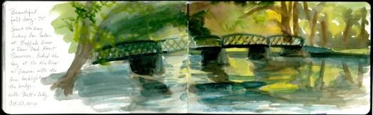 Fox River Bridge sketch © 2016 Karen A. Johnson