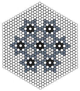Mønster til stjernecoaster perler