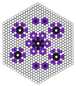 Mønster til blomster i stribede perler