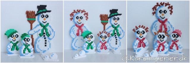 Familien Sne i hama perler