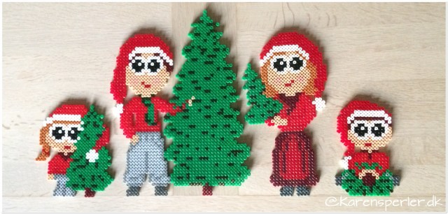 Juletræ nisser i perler