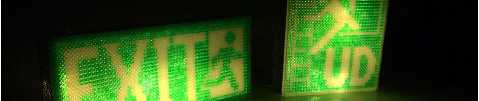 Nødudgang exit lampe i perler