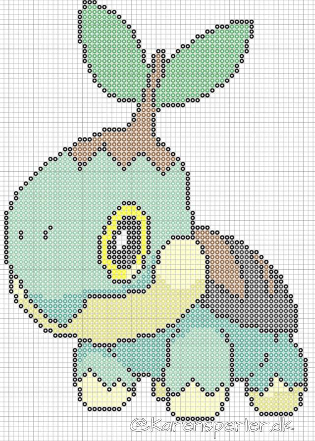 Turtwig Pokemon perler