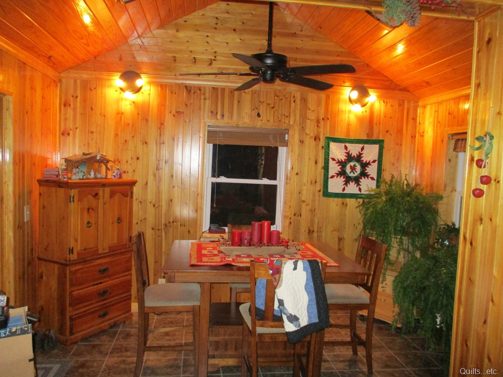 "Our ""new"" dining room decorated for Christmas."