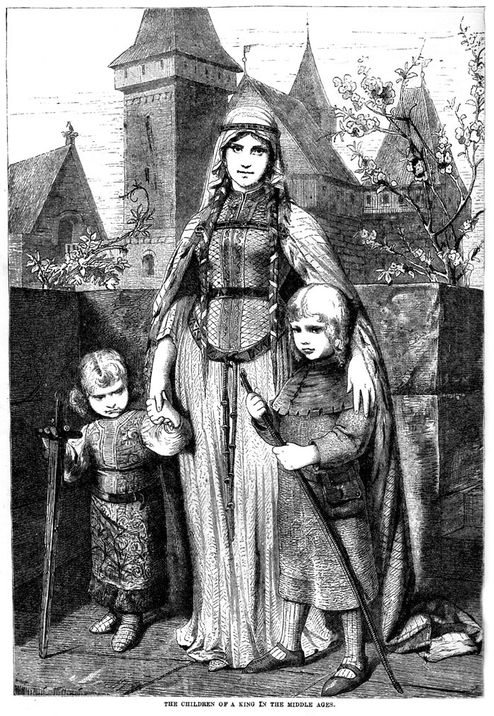 The children of a King in the Middle Ages.