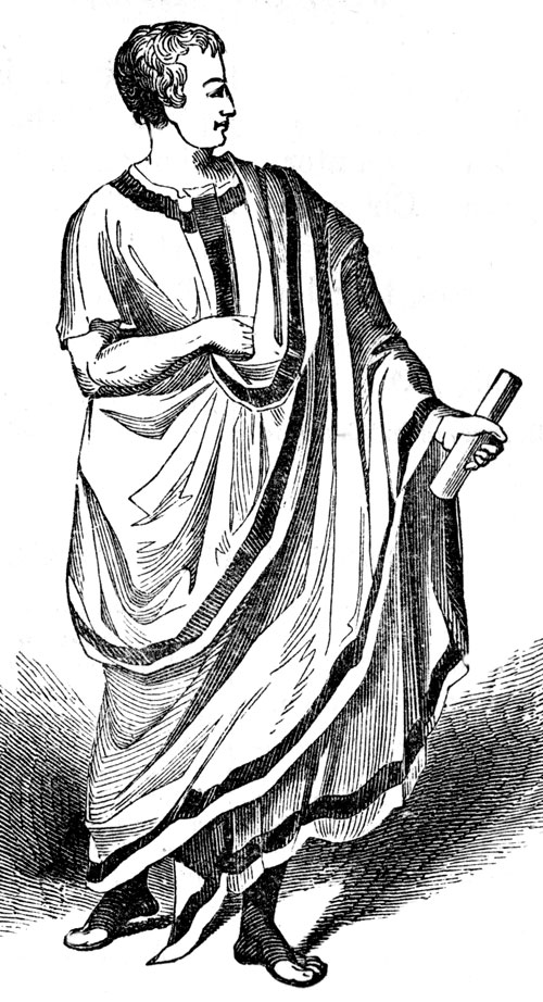 black holes working: ancient roman woman clothing