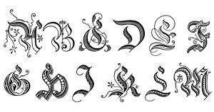 Fancy Letters ~ Karen's Whimsy