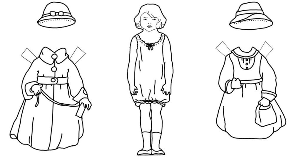 Paper Doll Coloring Pages Karen S Whimsy