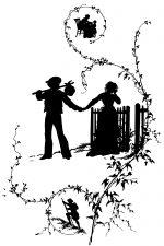 Couple Silhouettes ~ Karen's Whimsy