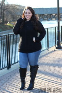 Warm and stylish shopping outfit