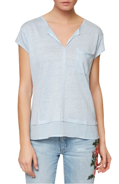 Sanctuary City Mix Layered Look Tee