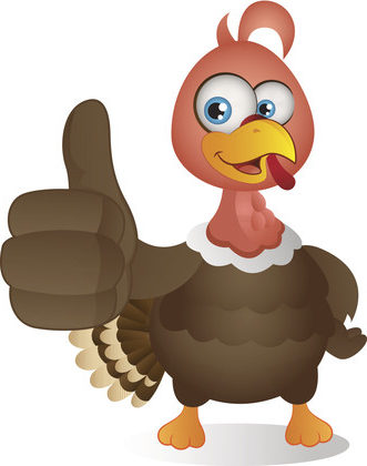 Silly Turkey Showing Thumbs Up