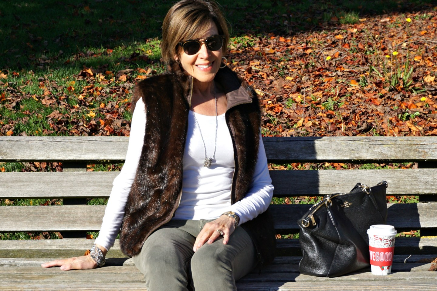 Faux Fur Vest . . . and a Little About Statement Jeans
