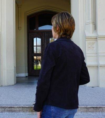 Black Faux Suede Jacket Detail