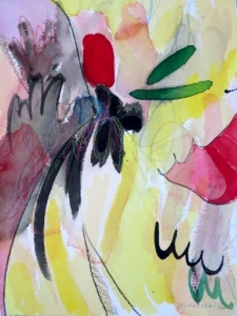 """Black Walnut, 12"""" x 9"""", 2002, watercolor + colored pencil"""