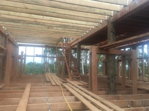 Second floor joists are up