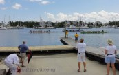 A three-boat race.