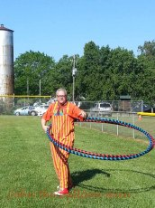 John hooping the big hoop at Clydefest 2015.