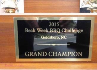 Grand prize winner trophy.