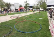 Hoops on the lawn at Center Street.