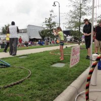 Hooping on Center Street at Beak Week.